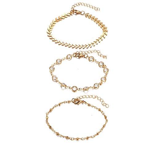 Sperrins Women Lady Pretty Ankle Chain Anklet Bracelet Barefoot Sandal Beach Foot Jewelry Toe Ring Anklet Chain Sparkly Ankle Bracelet Plated Gold Fish Bone