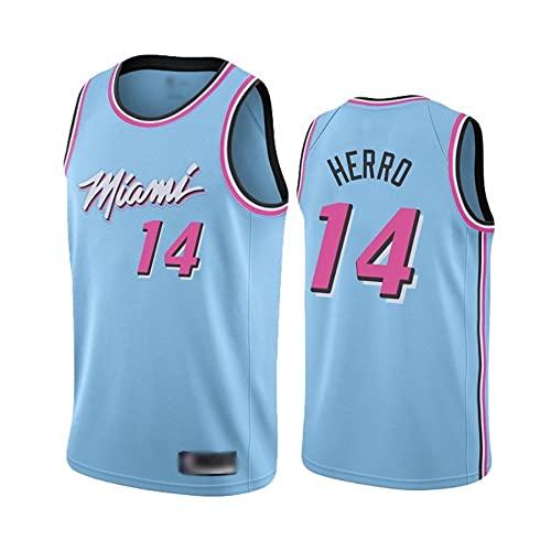 Checkless Camiseta de Baloncesto para Hombre Miami #3 Dwyane Wade #22 Butler #14 Tyler Herro Bordado, Transpirable y Resistente al Desgaste Camiseta de Basket para Fan