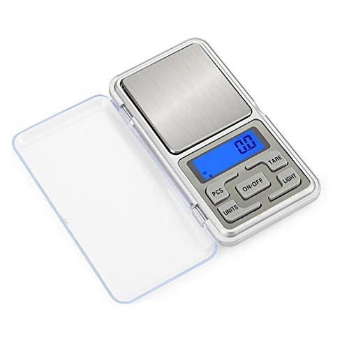 GPISEN Báscula Digitales de Bolsillo,500g 0.01g Mini Balanza de Alimentos Multifuncional,Báscula de Joyería,Función de Tara,para Cocinar,Café