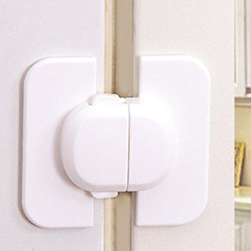 Bclaer72 Cerradura de seguridad para frigorífico, armario, cerraduras de seguridad, a prueba de mascotas, puerta para frigorífico, armario, horno, etc.