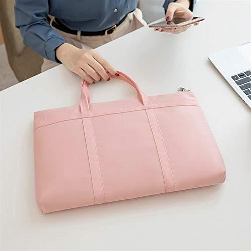 Ai-yixi Diseño clásico de moda para mujer, maletín A4, bolso de documentos para mujer, de 14,1 pulgadas, portátil, oficina, oficina, viaje, perfecto salvaje (color: gris, tamaño: 1)