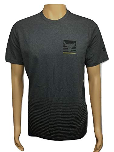 Under Armour Men's UA Project Rock Graphic Gray/Gold Shirt (Medium)