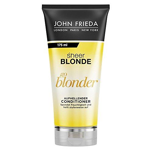 John Frieda Sheer Blonde Go Blonder - Aufhellender Conditioner/Spülung - Spendet Feuchtigkeit und hellt stufenweise auf - Inhalt: 175 ml