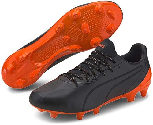 PUMA - Mens King Platinum Fg/Ag Shoes, Size: 9 D(M) US, Color: Puma Black/Shocking Orange