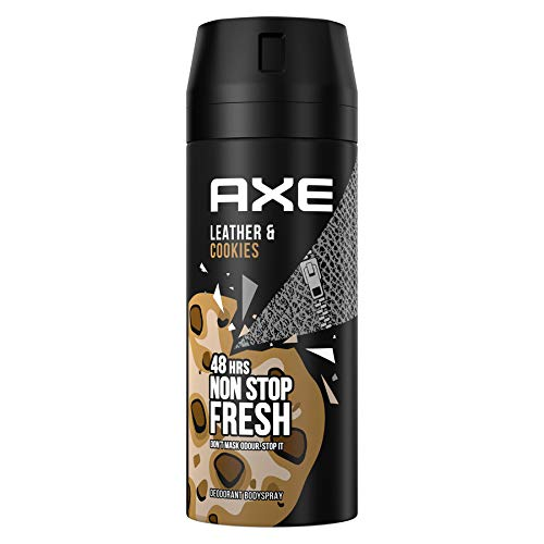 Axe - Desodorante bodyspray Leather&Cookies, 48H de protección, tecnología Dual Action, 150 ml