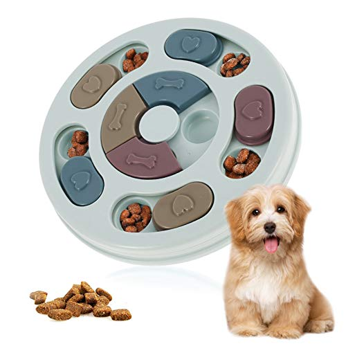 otutun Juego de Inteligencia para Perros, Juguete de puzle para Perros, Comedero Lento Perro Pet Bowl Feeder Toys con Antideslizante, Dispensador de Premios para Perrito