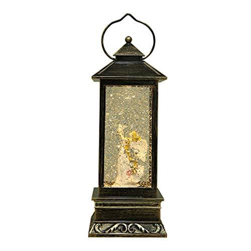 HUANLIAN Exquisite Lampe Im Europäischen Stil, Exquisites Taubenengelmuster, Mit Musik, Kann in Den Akku Eingelegt Oder Direkt Aufgeladen Werden Und Eignet Sich Für Die Inneneinrichtung