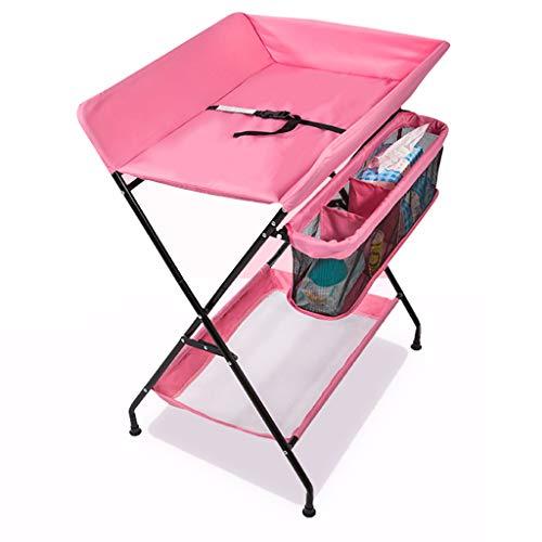 Table De Soins Pour Bébé, Table À Langer Petite Table - Table De Massage Pour Nouveau-né Pliable, Capacité De Charge: 15KG, Taille 75x56x108CM (Couleur : Pink)