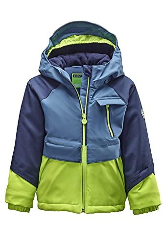 Killtec KW 88 MNS Ski Jckt Giacca Funzionale con Cappuccio e paraneve, Blu Tempesta, 92 cm Bambino