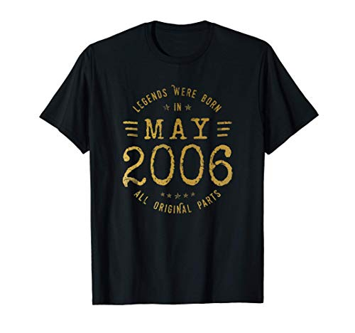 15 Anni Compleanno - Le Leggende Sono Nate nel Maggio 2006 Maglietta