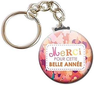 Porte Clés Chaînette 3,8 centimètres Merci pour cette belle année Idée Cadeau Accessoire École Maître Maîtresse Enfant Élè...