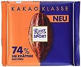 RITTER SPORT Kakao-Klasse: Die Kräftige 74 % aus Peru (12 x 100 g), Edel-Bitterschokolade mit intensivem Kakao aus Peru, besondere Schokolade, Kakaogehalt: mind. 74 %