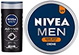 NIVEA Men Shower Gel, Active Clean Body Wash, Men, 250ml And NIVEA Men Creme, Dark Spot Reduction Cream, 75ml night creams for 20s Apr, 2021