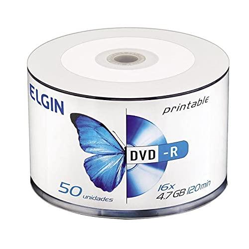Dvd Gravável, Elgin, Printable, Dvd-R, 4.7 gb, 120 Minutos, 8x, Tubo com 100