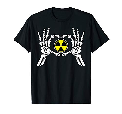 Funny Radioactive Gift For Men Cool Nuclear Biohazard Logo T-Shirt