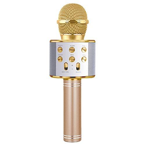 TICE Regalo inalámbrico de Fiesta en casa con micrófono de Karaoke Bluetooth para niños