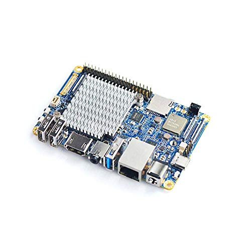NanoPC-T4 con Rockchip RK3399 y Doble Canal LPDDR3 de 4GB y 16 GB de Memoria Flash eMMC 5.1 y Gigabit Nativo Ethernet y Doble Antena, Compatible con Android 7.1.2, Lubuntu 16.04