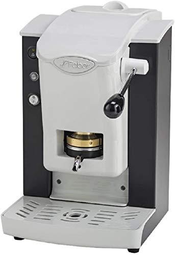 FABER SLOT PLAST Macchina da Caffè a Cialde ESE 44 MM Colore BIANCO/NERO