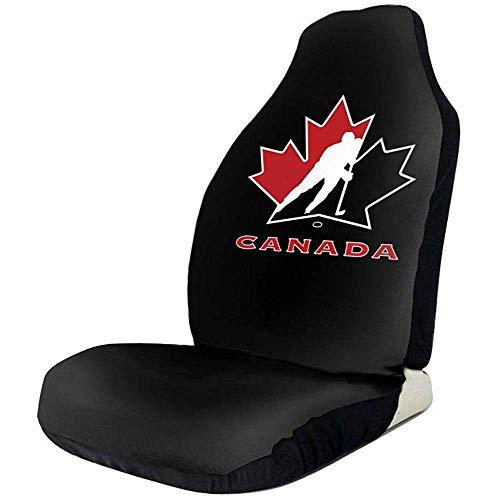 Fundas universales para asientos delanteros de coche con logotipo del equipo nacional de hockey sobre hielo de Canadá, protectores de asientos delanteros para coche, camión y SUV