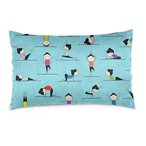 Sweet grape Fundas de almohada suaves y transpirables para campamento de verano con cremallera oculta, decoración del hogar, ropa de cama Yoga3 35,5 x 50,8 cm