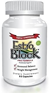 Estroblock PRO Triple Strength - 60 Capsules, DIM & Indole 3-Carbinol for Natural Hormonal Hormone Balance, Acne - Anti Toxic Estrogen Aromatase Inhibitor Blocker. Soy Free, Dairy Free, Non-GMO (1)