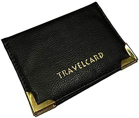 Black Soft Leather Travel Card Bus Pass Credit Card ID Card Wallet Cover Case Holder by TICHI