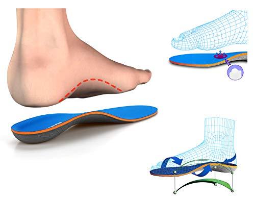 Las plantillas para el soporte del arco, las plantillas para los pies planos, la fascitis plantar, ayudan a aliviar el dolor en los pies de hombres y mujeres, adecuadas para todo tipo de zapatos