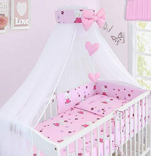 Baby Sonnendach Vorhang Moskitonetz Mit Halter Passend Für Gitterbett & Kinderbett - Hello Kitty