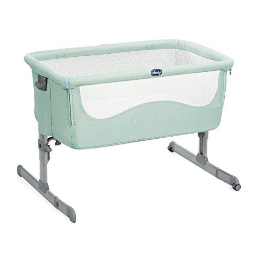 Chicco Next2me - Cuna de colecho con anclaje a cama y 6 alturas, color verde