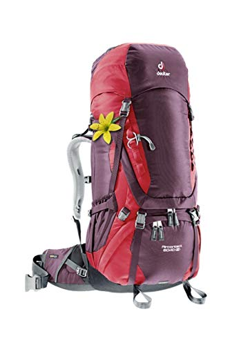 Deuter Aircontact 60 10 SL Trekking-Rucksack Aubergine/Cranberry