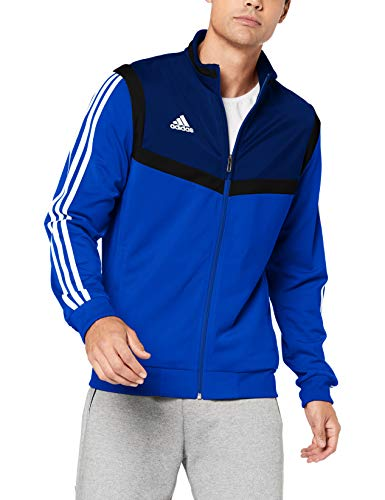 Adidas Core 18 TT, Giacca Uomo, Blu (Dark Blue/White), M