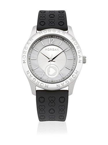 Morgan de Toi M1132B - Reloj analógico de Cuarzo para Mujer, Correa de Silicona Color Negro