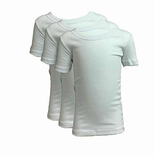 Liabel 3 t-Shirt Bambino Ragazzo Mezza Manica Girocollo Caldo Cotone Art. 02828/E25R Bianco (6 (8 Anni))