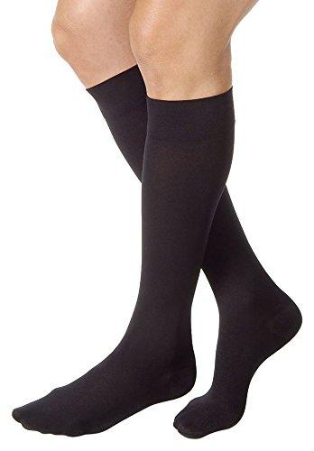 Calcetines hasta la rodilla Jobst extra firmes para la compresión y alivio, de 30a 40mmHg, 114738, L, Negro clásico, 1, 1