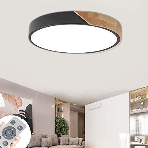 60W Lámpara de techo LED Regulable Plafon Techo Led Cuadrado Iluminación interior para Dormitorio Comedor Cocina Balcón Marco de Concha Negro [Clase de eficiencia energética A++]