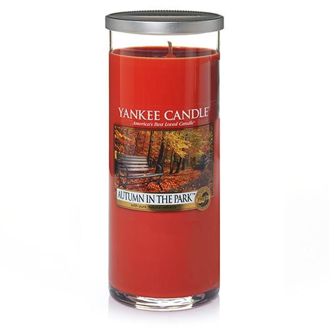 学習メタルライン後悔Yankee Candle Autumn In The Park Large Perfect Pillar Candle、新鮮な香り
