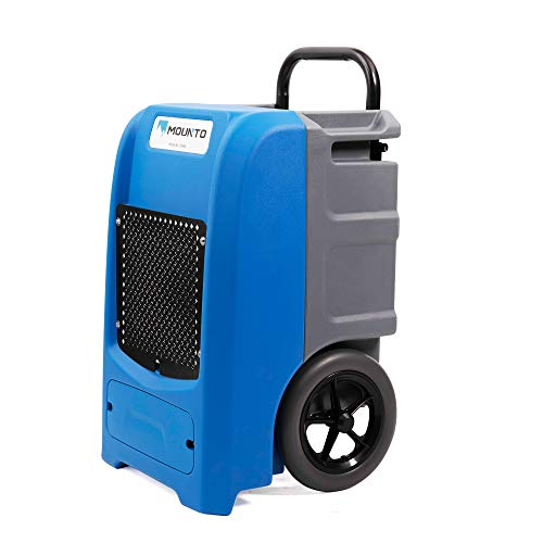 MOUNTO 100Pints Commercial Roto-Mold Basement Dehumidifier with Pump