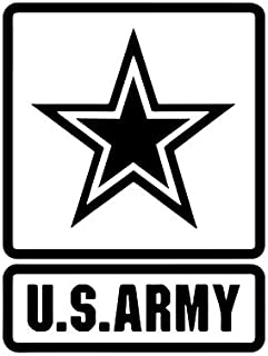 US Army Patch Symbol Star Logo NOK Decal Vinyl Sticker  Cars Trucks Vans Walls Laptop Black 5.3 x 4.0 in NOK1317