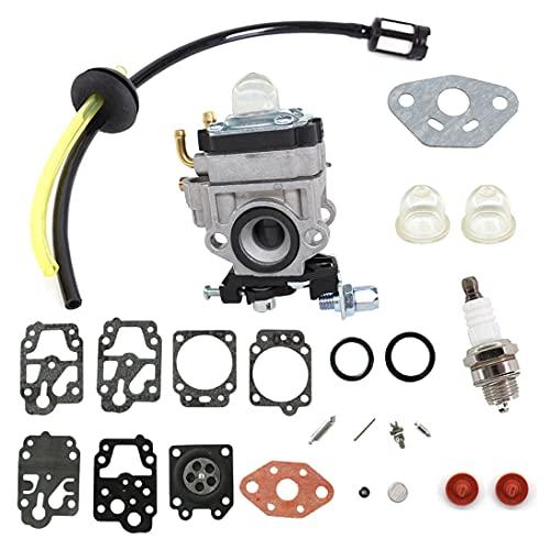 AISEN Carburateur avec tuyau d'essence Filtre à essence Bougie d'allumage pour débroussailleuse AL-KO Alko BC410 BC4125 BC4535