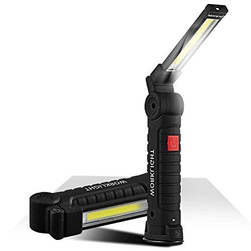 COB LED作業灯 折り畳み式 LEDライト USB充電式 ワークライト 防水 多機能 懐中電灯