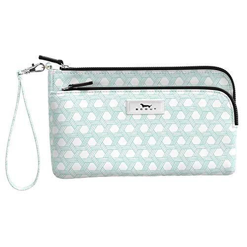 Scout Kelly Handgelenk, leicht, Geldbörse für Frauen, wasserabweisend, Clutch, mit 2 Fächern und Gurt (mehrere Muster erhältlich)
