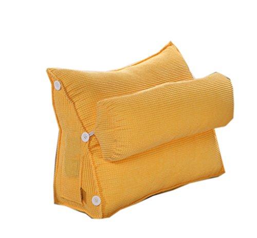 uus Coussin de canapé triangle moderne Design ergonomique avec coussin de tête amovible Coussin de chevet Coussin de chaise à rebord lent à lame Pure 60 * 50 * 20cm ( Couleur : B )