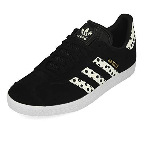 adidas Gazelle W, Zapatillas Deportivas Mujer, Core Black Core White FTWR White, 40 EU