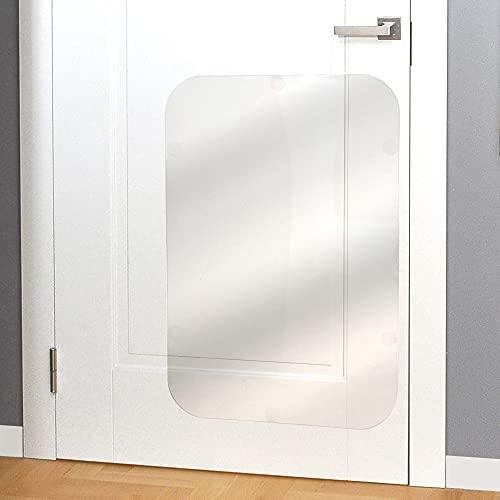 PROTECTO Door Scratch Protector Premium Dog Door Cover for Interior & Exterior Use - Clear (35.5 x 24)