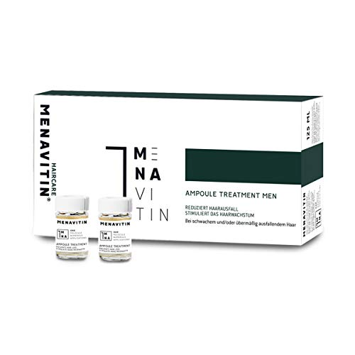 MENAVITIN Ampoule Treatment for Men mit exklusivem 1-MNA ohne Ausspülen – tiefenwirksame Haarkur gegen Haarverlust - für starkes und geschmeidiges Haar, dermatologisch getestet