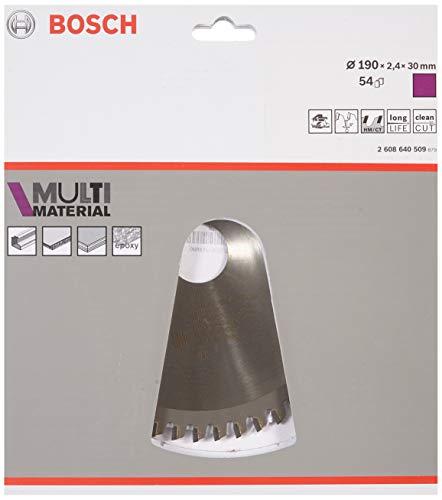 Bosch 2 608 640 509 - Hoja de sierra circular Multi Material - 190 x 30 x 2,4 mm, 54 (pack de 1)