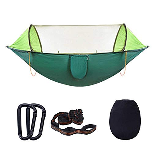 NOBRAND Outdoor Mosquito Net Hammock Automatic Quick Open Portable Double Hammock Camouflage Travel Hiking Hanging Bed Camping Tent