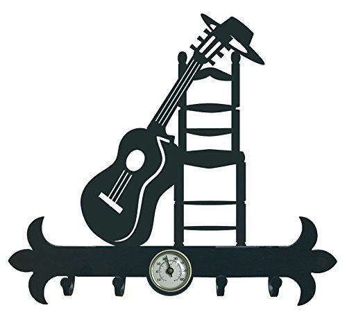 Arthifor - Colgador de Llaves Guitarra Andaluza con Termómetro