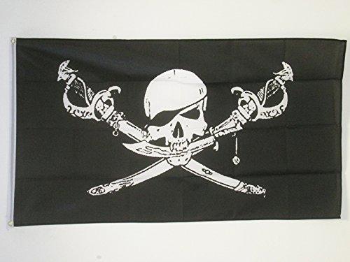 AZ FLAG Drapeau Pirate Brethren of The Coast 250x150cm - Grand Drapeau Corsaire 150 x 250 cm