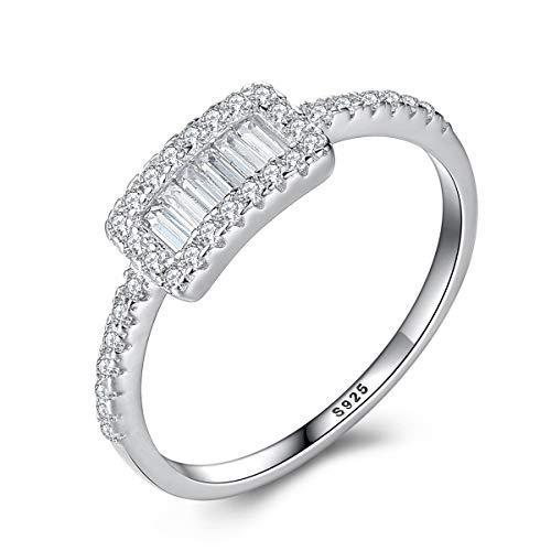 Esberry verlovingsring met Swarovski® zirkonia 925 sterling zilveren ring meerdere maten opties persoonlijkheid temperament sieraden geschenk voor vrouwen